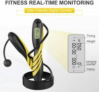 Jump Rope Digital Counting With Calorie Counter For Fitness, With Alarm Reminder
