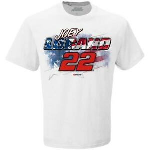 Joey Logano #22 2020 Patriotic Red White & Blue Patriotic  T- Shirt Brand New