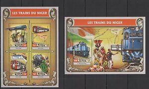 ST1926 2016 NIGER TRANSPORT TRAINS OF NIGER RAILROADS KB+BL MNH