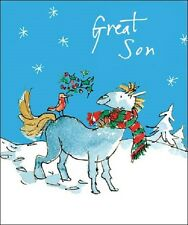 Gran hijo Quentin Blake Christmas Greeting Card Populares De Navidad Tarjetas
