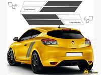 Fits Renault Megane Trophy Sports Full Kit Racing Side Stripes Car Stickers