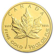 2002 Canada 1/10 oz Gold Maple Leaf BU - SKU #84222