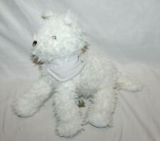 """Bunnies By The Bay White WESTIE Terrier Puppy Dog Plush 13"""" Bandanna Scarf Rare"""