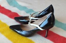 ISAAC MIZRAHI New York Agalia Mary Jane Pump Black Patent Leather SZ 7 VG Cond!!
