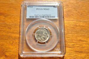 1921 Buffalo Nickel MS63 PCGS - Sharp Strike - Stunning Coin - Die Rotation