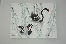 Excellent Chinese Scroll Painting By Wu Guanzhong  P10-12 吴冠中