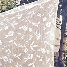 """Heritage Lace """"Brighton"""" Curtain Double Pocket Rod top & bottom 45"""" x 63"""" Length"""