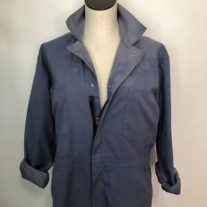 Vintage Red Cap Blue Mechanic Jumpsuit Coveralls - one piece - Unisex size M/L