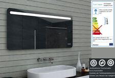 Design Badezimmerspiegel mit Dimmer, Warm & Kaltweiß & Touchschalter 140 x 65 cm