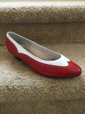 NEW in BOX ~ SELBY ~ Red White Spectator Low Heels Shoes (Ladies 9 WW) OLD STOCK