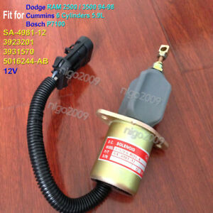 Shut Off Stop Solenoid for DODGE RAM 2500 3500 94-98 CUMMINS 5.9L BOSCH P7100