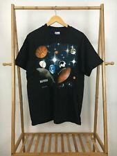 VTG 1997 Hanes Millennium 2000 Space Universe Sports Black T-Shirt Size L