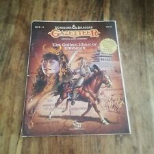 Gazetteer - THE GOLDEN KHAN OF ETHENGAR WITH MAP D&D 1st Ed