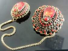 Hijabs and Cardigans etc Accessories Red Double Brooch perfect for