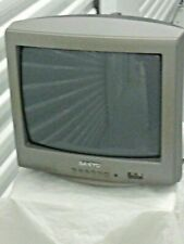 """SANYO 13"""" CRT COLOR Gaming TV TESTED Working Video Gamer Ready Retro"""