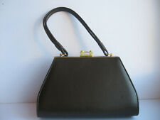 VINTAGE BROWN  REAL LEATHER HAND BAG MADE IN ENGLAND