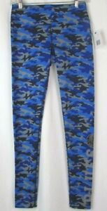 St. Louis Blues Women's G-III Blue, Black & Gray Camo Camouflage Leggings Size S