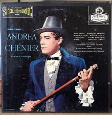 London OSA 1303 Andrea Chenier  Black Label Decca UK Pressings