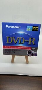 NEW Panasonic 3-Pack  2.8GB 8cm DVD-R for DVD Camcorders Sealed Double Sided
