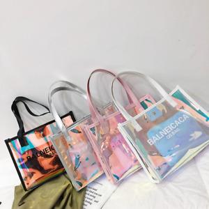 Beach Handbag Shopping Bag Transparent Big Bag Waterproof Large Capacity Totes