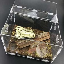 Acrylic Reptile Terrarium Habitat Ideal Case for Larvae Spiders Ants Scorpion,]