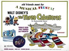 The Three Caballeros movie poster print (d) : 12 x 16 inches  Donald Duck poster