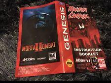 Color Custom Manual MAXIMUM CARNAGE SEGA Mega Drive USA Version - AAA+++