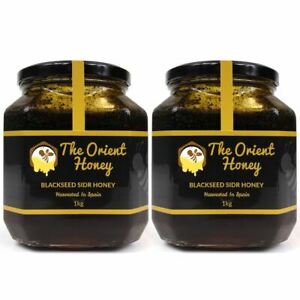2KG Black Seed Sidr Honey Top Quality 100% Authentic Royal Raw The Orient Honey
