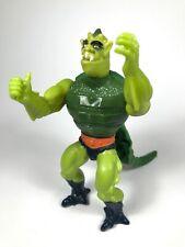 Vintage 1983 MOTU Masters Universe He-Man WHIPLASH Green Action Figure w Tail