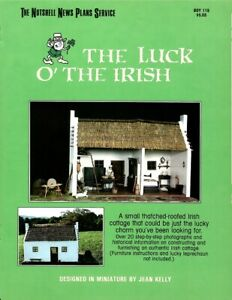Dollhouse Miniature The Luck of the Irish Cottage Instructional Book BOY119