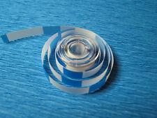 """Vorlaufband,Kennband 5m Blau/Weiss 1/4"""" 6,3mm für Nagra,Uher usw"""