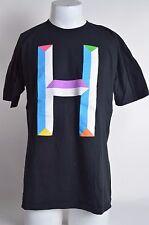 NWOT MENS HUF BEVEL H T-SHIRT L black colorful genuine og skateboard sf blue