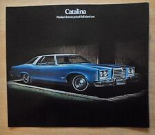 PONTIAC CATALINA orig 1974 USA Mkt Large Format Sales Brochure