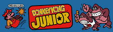 Donkey Kong Jr Arcade Marquee For Reproduction Header/Backlit Sign