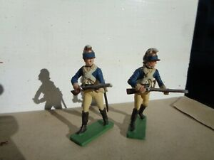 Imrie Risley, lot of 2 2nd Regiment of Continental Dragoons AWI  lead 54mm, jj