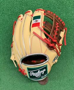 "Rawlings Heart of the Hide 11.5"" Custom Mexico Edition Baseball Infield Glove"
