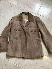 Vetements ESCO Confezioni Kleider Mens 54 Jacket Brown Blazer Vintage Suede£1350