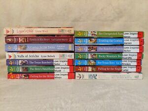 Lot of 14 Harlequin LOVE INSPIRED  Romance Books PB Christian Love Faith