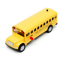"""5"""" Lights and Sounds Die Cast NYC School Bus Pull Back Action and Openable Door"""