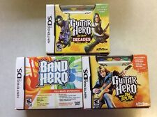 New Lot 3 Nintendo DS Games Band Hero Guitar Hero On Tour And On Tour Decades