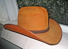 Genuine Vintage Suede Cowboy Style Hat Buck Color 7 1/8 Buckle Saddle Buckle