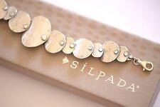 "Silpada Sterling Silver Textured Oxidized ""BADGE OF BEAUTY"" Bracelet B3074"