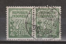 Indonesia 76 pair TOP CANCEL MEDAN Cijfer 1951 : NU VEEL MEER INDONESIE