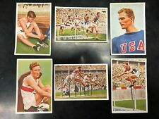1936 Berlin Olympic HURDLES Medalists Iso-Hollo,Towns, Hardin- Franck- 6 cards