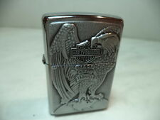 ZIPPO LIGHTER FEUERZEUG HARLEY DAVIDSON HD 231 EAGLE ON GLOBE VERY RARE  NEW