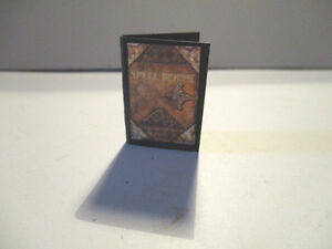 Dolls House Miniature WITCHES POTIONS BOOK WITH SPELLS PAGES