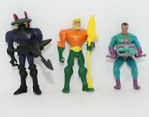 Vintage Lot of 3 DC Comics Action Figures Aquaman, The Riddler, Black Manta