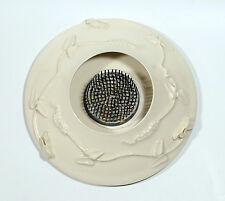 Studio Art Pottery Wheel Thrown Ikebana Kenzan Spiky Frog Vase Artist Signed (2)