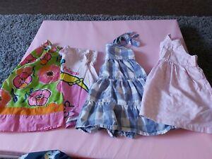 Next Girls Dress And T Shirt Bundle 12-18 Months