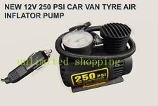 NEW 12V 12 VOLT 250 PSI CAR VAN TYRE AIR INFLATOR mini PUMP UK SELLER